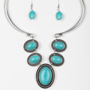 $5 for $25  Turquoise Necklace and Earrings
